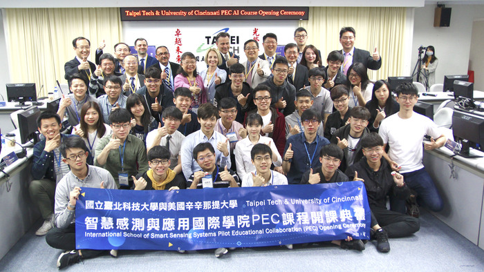 Taipei Tech and UC successfully opened the PEC (Pilot Educational Collaboration) AI courses in May 2019.